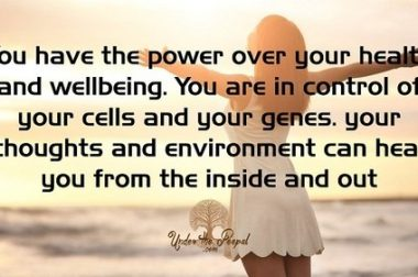 You Control Your Wellbeing